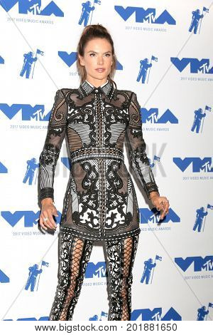 LOS ANGELES - AUG 27:  Alessandra Ambrosio at the MTV Video Music Awards 2017 at The Forum on August 27, 2017 in Inglewood, CA
