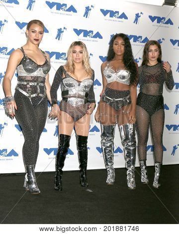 LOS ANGELES - AUG 27:  Dinah Jane, Ally Brooke, Normani Kordei, Lauren Jauregui, Fifth Harmony at the MTV Video Music Awards 2017 at The Forum on August 27, 2017 in Inglewood, CA