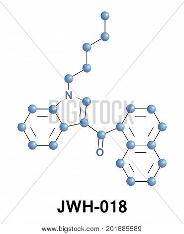 JWH-018 pentylnaphthoylindole or AM-678 is an analgesic chemical from naphthoylindole family that acts as a full agonist at both the CB1 and CB2 cannabinoid receptors with some selectivity for CB2