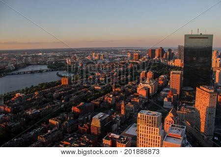 The Boston City as seen from Prudential Tower