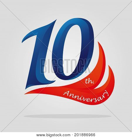 10 years anniversary celebration logotype. 10th anniversary logo