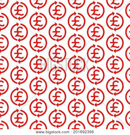 Pattern background Money Pound Icon GBP currency symbol