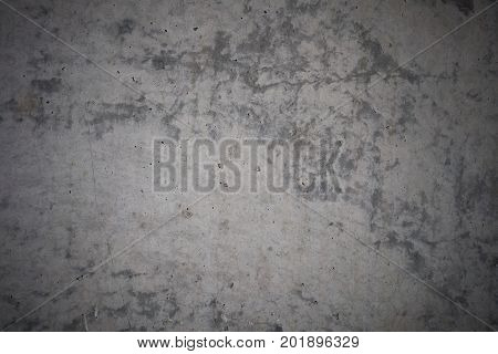 Decorative grey concrete wall vignetted, Background with copy space