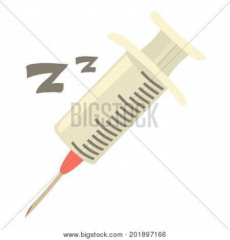 Syringe icon. Cartoon illustration of syringe vector icon for web