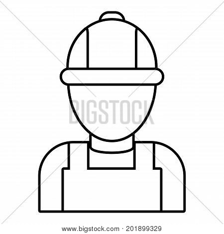 Man mechanic icon. Outline illustration of man mechanic vector icon for web