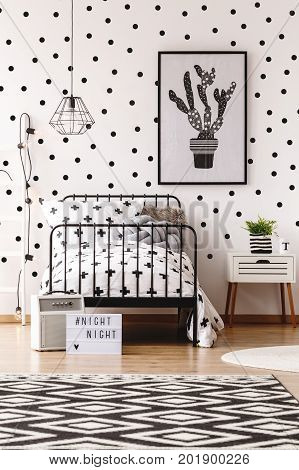 Monochromatic Kids Room With Carpet