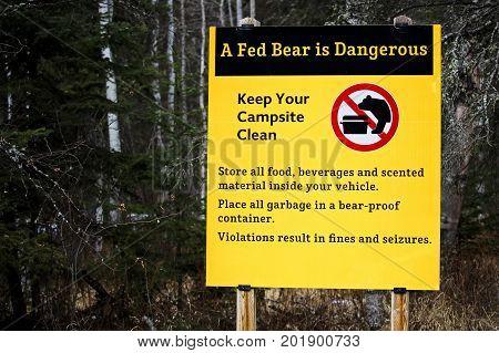 A Fed Bear Is A Dangerous Bear Sign