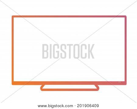 Isolated Orange To Pink Gradient Borderless Television