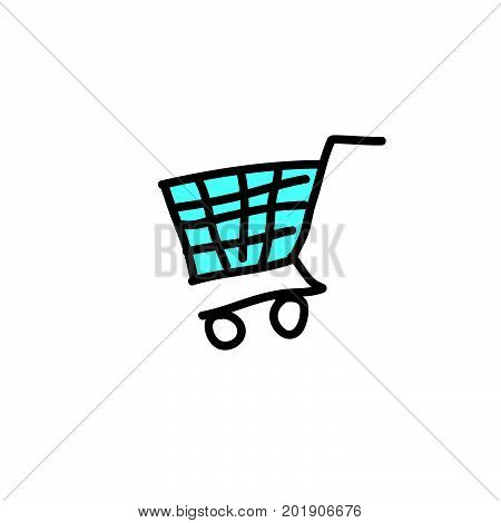 doodle trolley, doodle trolley stock vector design