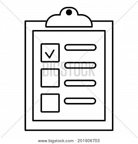 Checklist icon. Outline illustration of checklist vector icon for web