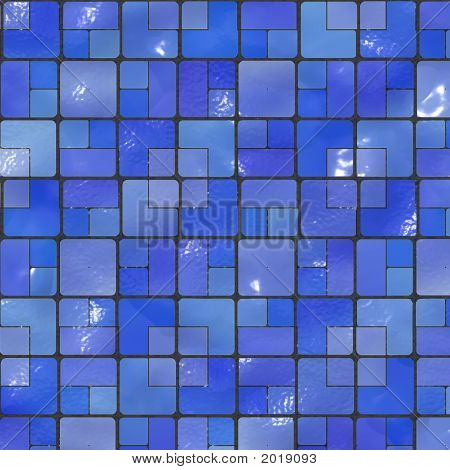 Blue Ceramic Tile Mosaic