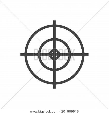 Vector Goal Element In Trendy Style.  Isolated Dartboard Outline Symbol On Clean Background.