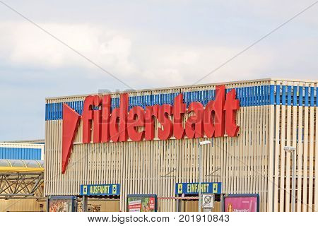 Lettering Showing Filderstadt, Village Near Airport Stuttgart, Germany