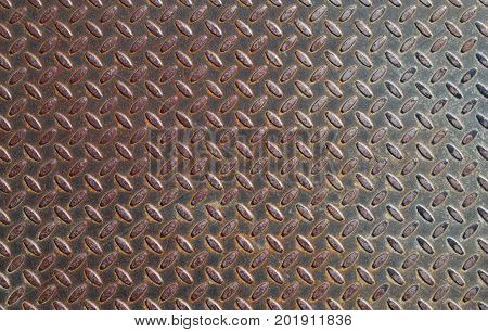 heavy metal rusty diamondplate diamond non-skid texture metallic surface