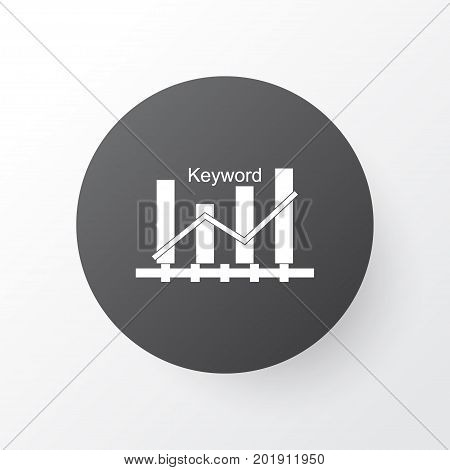 Premium Quality Isolated Keyword Optimisation Element In Trendy Style.  Keyword Ranking Icon Symbol.