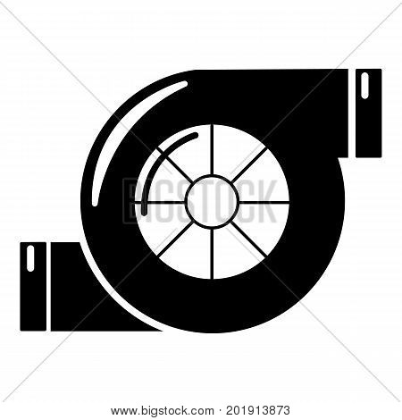 Air filter icon. Simple illustration of air filter vector icon for web