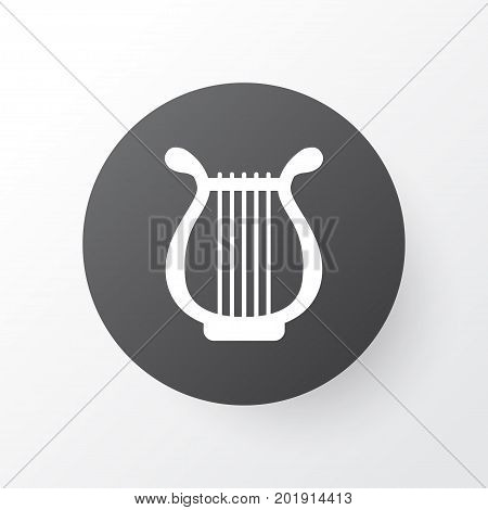 Premium Quality Isolated Lyre Element In Trendy Style.  Harp Icon Symbol.