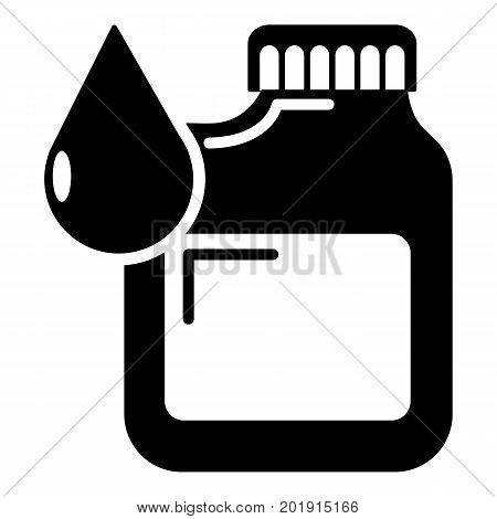 Canister engine oil icon. Simple illustration of canister engine oil vector icon for web