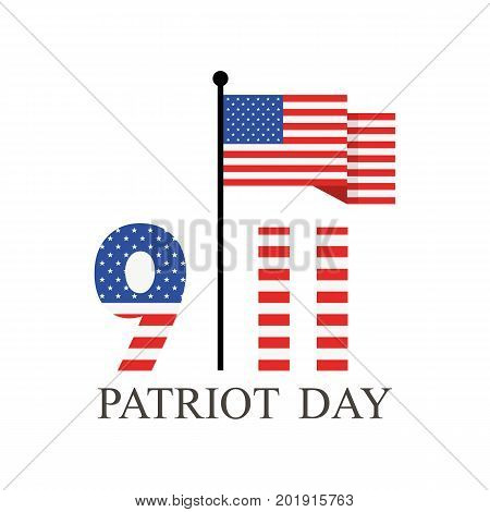 Patriot Day september 11. We will never forget. Vector illustration.