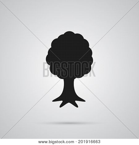 Vector Timber Element In Trendy Style.  Isolated Tree Icon Symbol On Clean Background.
