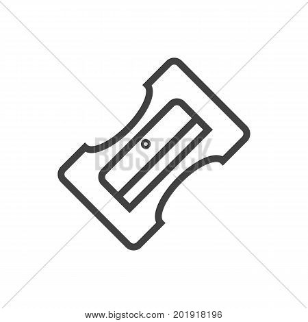 Vector Sharpener Element In Trendy Style.  Isolated Supplies Outline Symbol On Clean Background.