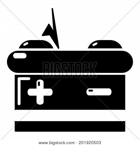 Battery icon. Simple illustration of battery vector icon for web