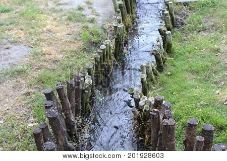 Beautiful Artificial Brook