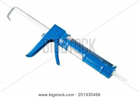 Manual caulking gun used for sealing cracks and edges during construction and diy projects.