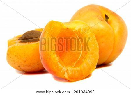 Large juicy peaches. Useful dietary and vegetarian food.
