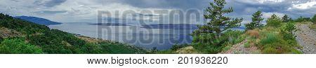 Panoramic View Of Islands of Krk Croatia
