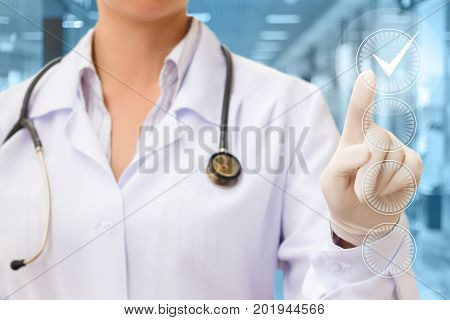 Doctor Hand Checking The Checking Box .