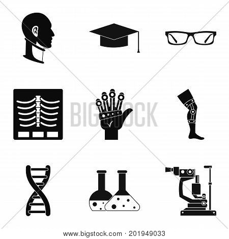 Stature icons set. Simple set of 9 stature vector icons for web isolated on white background