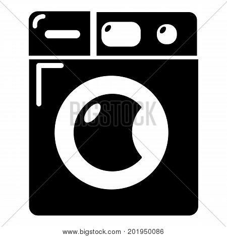 Washing machine icon. Simple illustration of washing machine vector icon for web