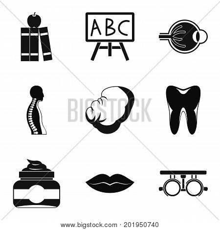 Figure icons set. Simple set of 9 figure vector icons for web isolated on white background