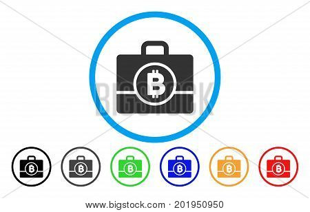 Bitcoin Case flat vector illustration for application and web design.