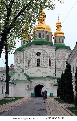 KIEV, UKRAINE - MAY 3, 2011: This is Church of All Saints of the Kiev-Pechersk Lavra.