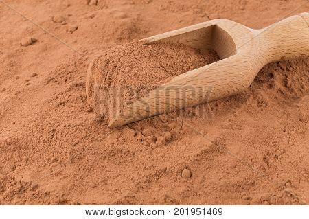 Cocoa Powder Closeup Background