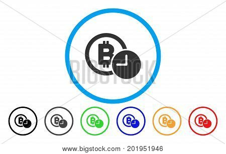 Bitcoin Credit Clock flat vector icon for application and web design.