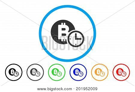Bitcoin Credit Clock flat vector pictograph for application and web design.