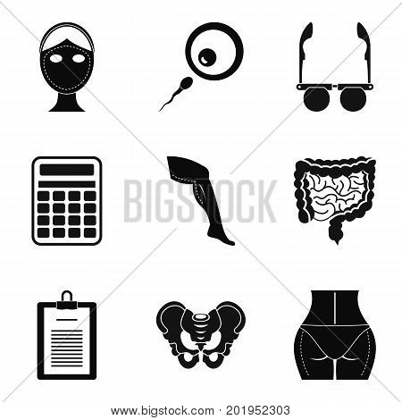 Assay icons set. Simple set of 9 assay vector icons for web isolated on white background