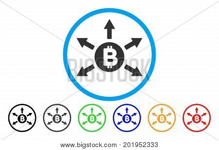 Bitcoin Emission flat vector pictogram for application and web design.