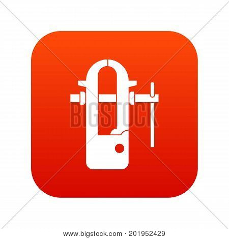 Blacksmiths vice icon digital red for any design isolated on white vector illustration