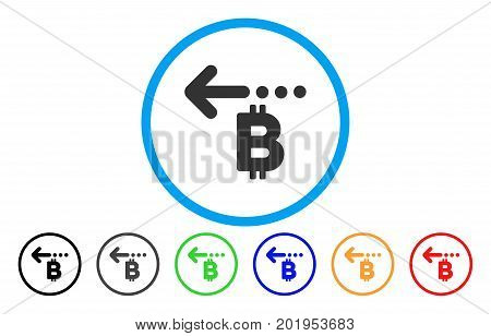 Bitcoin Refund Back flat vector illustration for application and web design.
