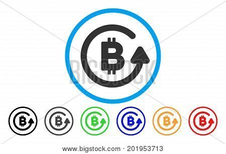 Bitcoin Refund flat vector pictograph for application and web design.