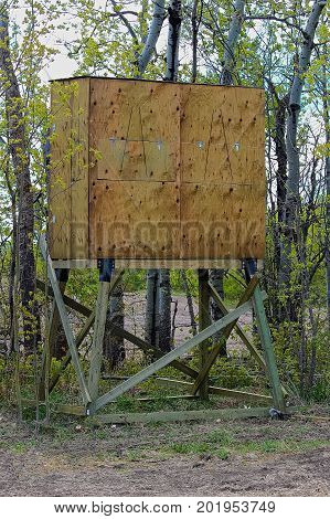 A Hunting Blind After It Has Been Raised