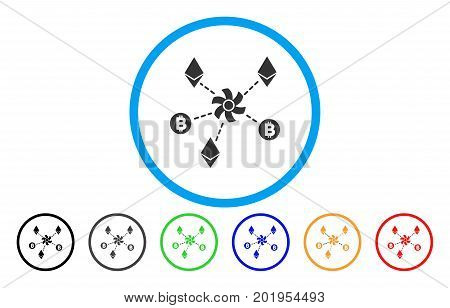 Cryptocurrency Mixer Rotor flat vector illustration for application and web design.
