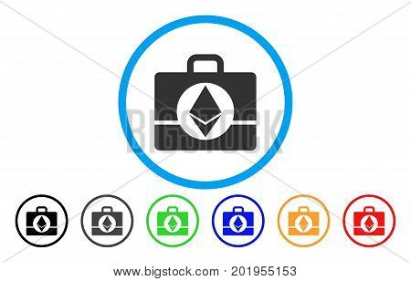 Ethereum Case flat vector pictogram for application and web design.
