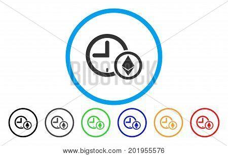 Ethereum Credit Clock flat vector pictogram for application and web design.