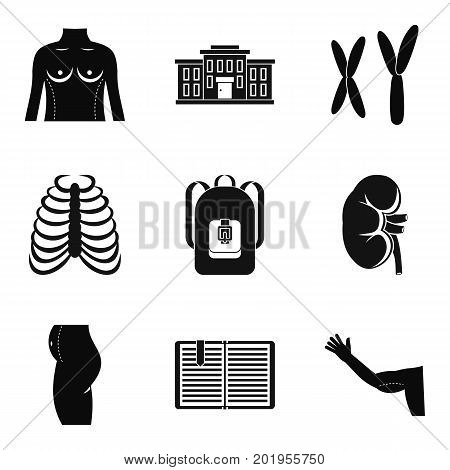 Atomy icons set. Simple set of 9 atomy vector icons for web isolated on white background