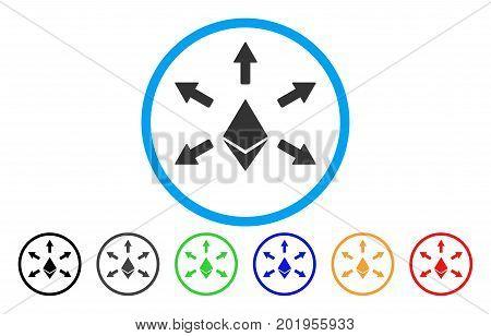 Ethereum Emission flat vector pictogram for application and web design.